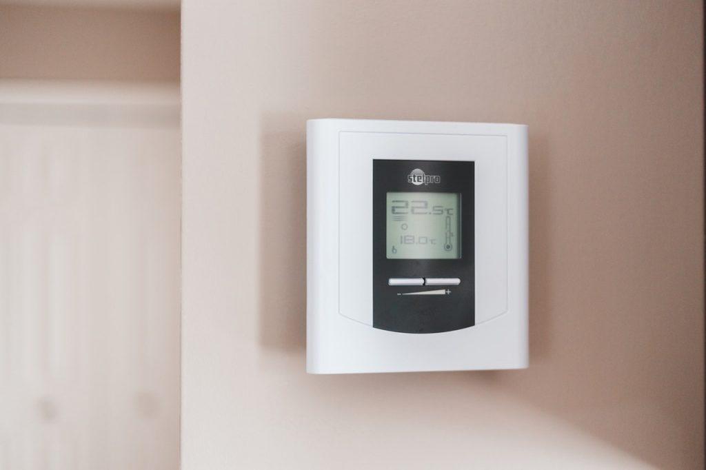 Thermostat sur un mur